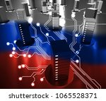 russia data center showing... | Shutterstock . vector #1065528371
