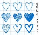 hand drawn set of different... | Shutterstock .eps vector #1065528701