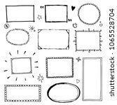 hand drawn set of simple frame... | Shutterstock .eps vector #1065528704