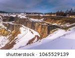 the open air copper mine of... | Shutterstock . vector #1065529139