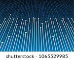 binary circuit board future... | Shutterstock .eps vector #1065529985