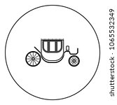 carriage black icon in circle... | Shutterstock .eps vector #1065532349