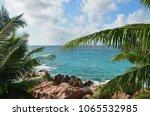 granite rocky ocean shore and... | Shutterstock . vector #1065532985