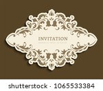 vintage gold label with cutout... | Shutterstock .eps vector #1065533384