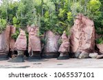 the unusual rock formations at...   Shutterstock . vector #1065537101