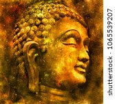 head of the lord buddha in... | Shutterstock . vector #1065539207