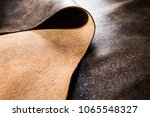 real brown leather fabric... | Shutterstock . vector #1065548327