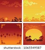 set of backgrounds wit...   Shutterstock .eps vector #1065549587