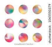 round gradient set of vibrant... | Shutterstock .eps vector #1065550379
