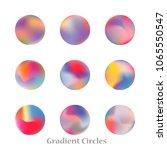 round gradient set of vibrant... | Shutterstock .eps vector #1065550547
