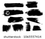 various painted grunge strokes. ... | Shutterstock .eps vector #1065557414
