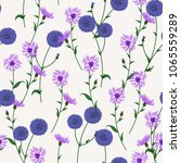 seamless floral pattern with... | Shutterstock .eps vector #1065559289