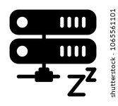 server sleep mode | Shutterstock .eps vector #1065561101