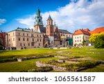 historic city of krakow in... | Shutterstock . vector #1065561587