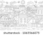 cozy cityscape for your... | Shutterstock .eps vector #1065566075