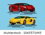 super luxury car for people who ... | Shutterstock .eps vector #1065571445