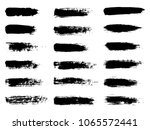 painted grunge stripes set.... | Shutterstock .eps vector #1065572441