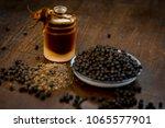 close up of black peppercorns...   Shutterstock . vector #1065577901