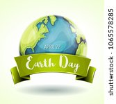 happy earth day banner ... | Shutterstock .eps vector #1065578285