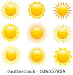 Set Of Glossy Sun Images....