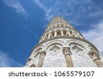 leaning tower of pisa  italy ... | Shutterstock . vector #1065579107