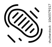 moon footstep print | Shutterstock .eps vector #1065579317
