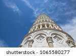 leaning tower of pisa  italy ... | Shutterstock . vector #1065580277
