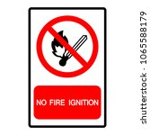 no fire ignition  symbol ... | Shutterstock .eps vector #1065588179
