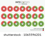 set of green and blue... | Shutterstock .eps vector #1065596201