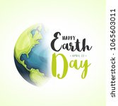 world earth day background ... | Shutterstock .eps vector #1065603011
