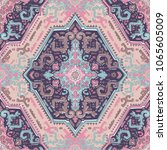 indian rug paisley ornament... | Shutterstock .eps vector #1065605009