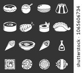 japan food icons set vector... | Shutterstock .eps vector #1065606734