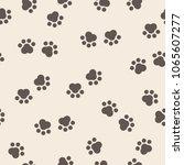 seamless repeat pattern animal... | Shutterstock .eps vector #1065607277