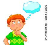 thinking boy  jpeg version is... | Shutterstock .eps vector #106561001