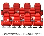 cinema concept. auditorium and... | Shutterstock .eps vector #1065612494