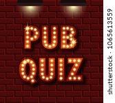 pub quiz announcement poster....   Shutterstock .eps vector #1065613559