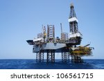 offshore jack up drilling rig... | Shutterstock . vector #106561715