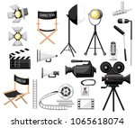 collection of cinematography.... | Shutterstock .eps vector #1065618074