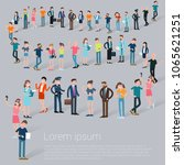 flat design croud of people... | Shutterstock .eps vector #1065621251