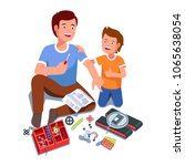 father and son building... | Shutterstock .eps vector #1065638054