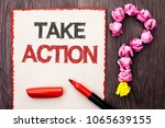 writing note showing  take... | Shutterstock . vector #1065639155