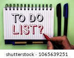 writing note showing  to do... | Shutterstock . vector #1065639251