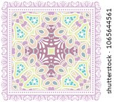 decorative colorful ornament on ... | Shutterstock .eps vector #1065644561