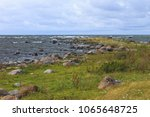 rocky seashore of baltic sea in ... | Shutterstock . vector #1065648725