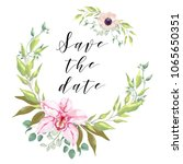 save the date card design.... | Shutterstock .eps vector #1065650351