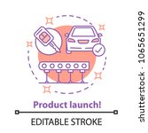 product launch concept icon.... | Shutterstock .eps vector #1065651299