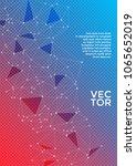 report template. global network ... | Shutterstock .eps vector #1065652019