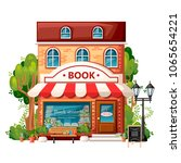 book shop front view. city... | Shutterstock .eps vector #1065654221