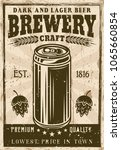 brewery vintage poster with... | Shutterstock .eps vector #1065660854