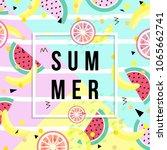 summer banner. punchy pastel.... | Shutterstock .eps vector #1065662741